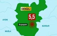 Denizli'de şiddetli deprem..