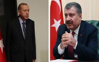 Erdoğan ve Koca'dan salgın açıklamaları