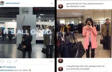 Ayna selfielerinde beliren çantalı adam