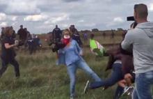 Macar gazeteci mülteciye çelme taktı!