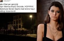 Beren Saat'e HDP  Protestosu
