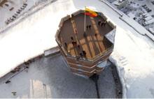 Drone kamerasından kış manzaraları