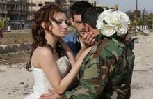 Enkaza dönen Humus sokaklarında düğün çekimi