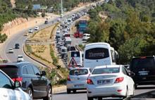 Bodrum'a 10 kilometrelik trafik kuyruğu