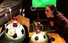 Aslıhan Doğan'dan pastalı kutlama