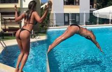 Ünlülerin bikinili poz atışması