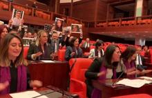 CHP'li kadın vekillerden Soylu'ya Las Tesis dans protestosu!