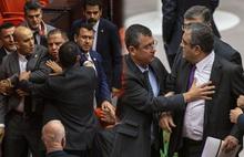 Mecliste vekillerin it dedin kavgası