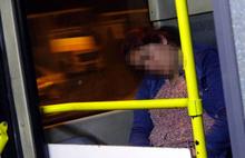 Şiddetten kaçan kadın metrobüse sığındı