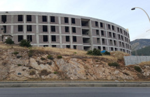 Bodrum'un hastane inşaatı tamamen durdu