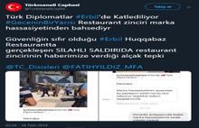 Diplomatın şehit olduğu restoran Bakanlığa şikayet edildi