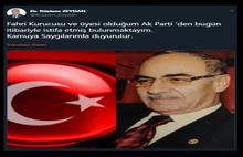 AKP'de kritik istifa...