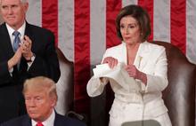 Trump'ın konuşmasında şoke eden anlar! Konuşma metnini yırtıp attı