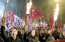 Yunan ırkçıları sınıra koştu