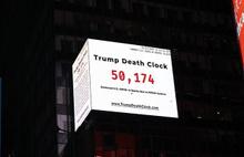 Trump ölüm saati meydana asıldı
