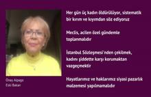 4 eski bakandan Meclis'e kadın cinayetleri konusunda çağrı