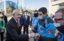 Kılıçdaroğlu, motokuryelerle görüştü: Her zaman yanınızdayız