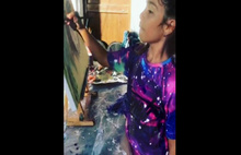 Minik Ressam Derya Su'dan Kadın Sığınma Evi'ne Destek