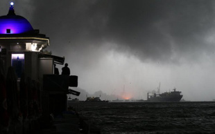 Haydarpaşa'da patlama ve yangın
