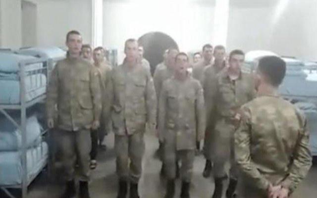 Asker koğuşundaki görüntüye soruşturma