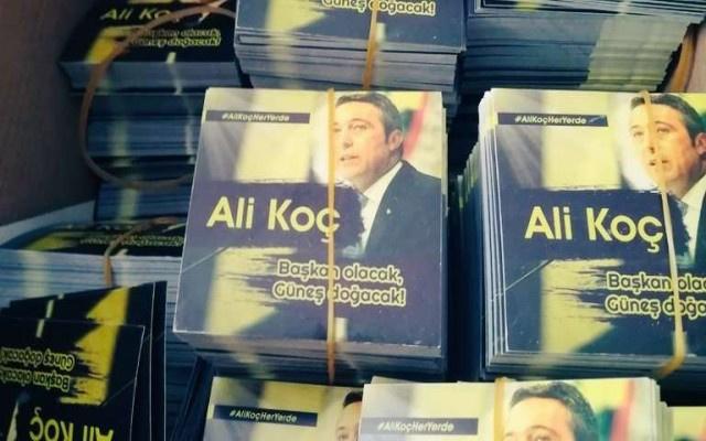 Taraftarlardan Ali Koç'a büyük destek