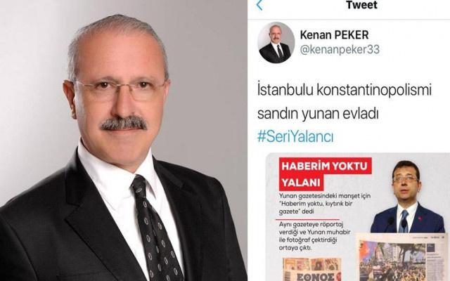 AKP'li başkandan İmamoğlu hakkında skandal tweet!