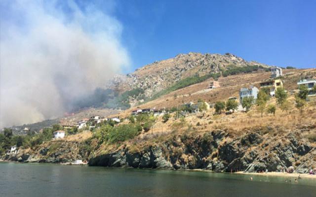 İki ada ile bir dağda yangın çıktı