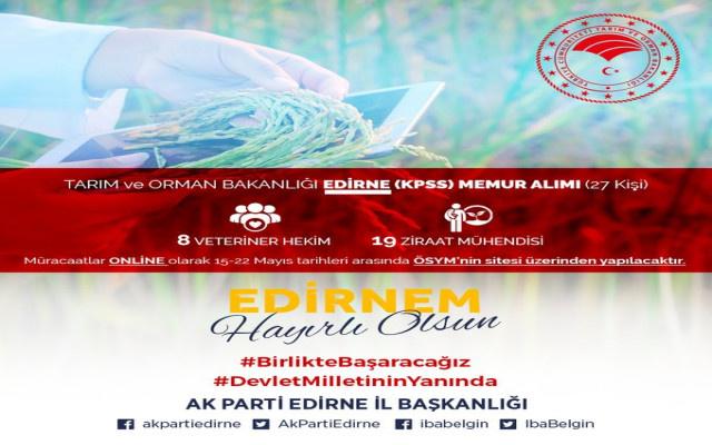 AKP İl başkanlığından işe alım duyurusu